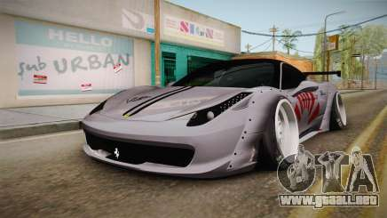 Ferrari 458 Liberty Walk Performance para GTA San Andreas