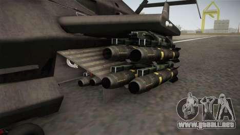 RAH-66 Comanche with Pods para GTA San Andreas vista hacia atrás