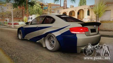 BMW M3 NFS Most Wanted Liberty Walk para GTA San Andreas left