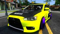 Mitsubishi Lancer Evolution X Tuning para GTA San Andreas