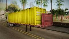 Yellow Trailer Container HD para GTA San Andreas