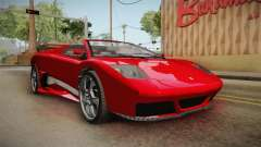 GTA 5 Pegassi Infernus Cabrio para GTA San Andreas