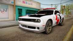 Dodge Challenger Hellcat 2012 PMSP para GTA San Andreas