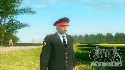 Capitán de la policía de Rusia en su túnica para GTA San Andreas