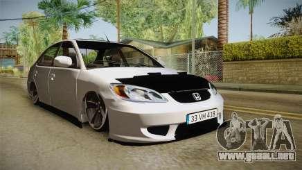Honda Civic I-Vtec para GTA San Andreas