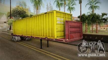 Yellow Trailer Container HD para GTA San Andreas
