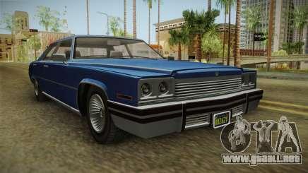 GTA 5 Albany Manana 4-doors IVF para GTA San Andreas