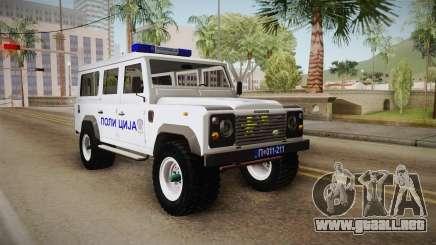 Land Rover Defender 110 De La Policía para GTA San Andreas