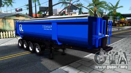 El Volquete Remolque Tonar para GTA San Andreas