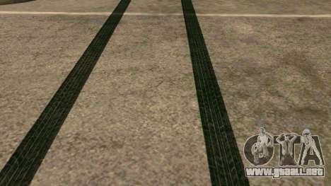 De nuevo las huellas de los neumáticos para GTA San Andreas tercera pantalla