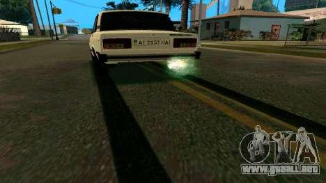 De nuevo las huellas de los neumáticos para GTA San Andreas segunda pantalla