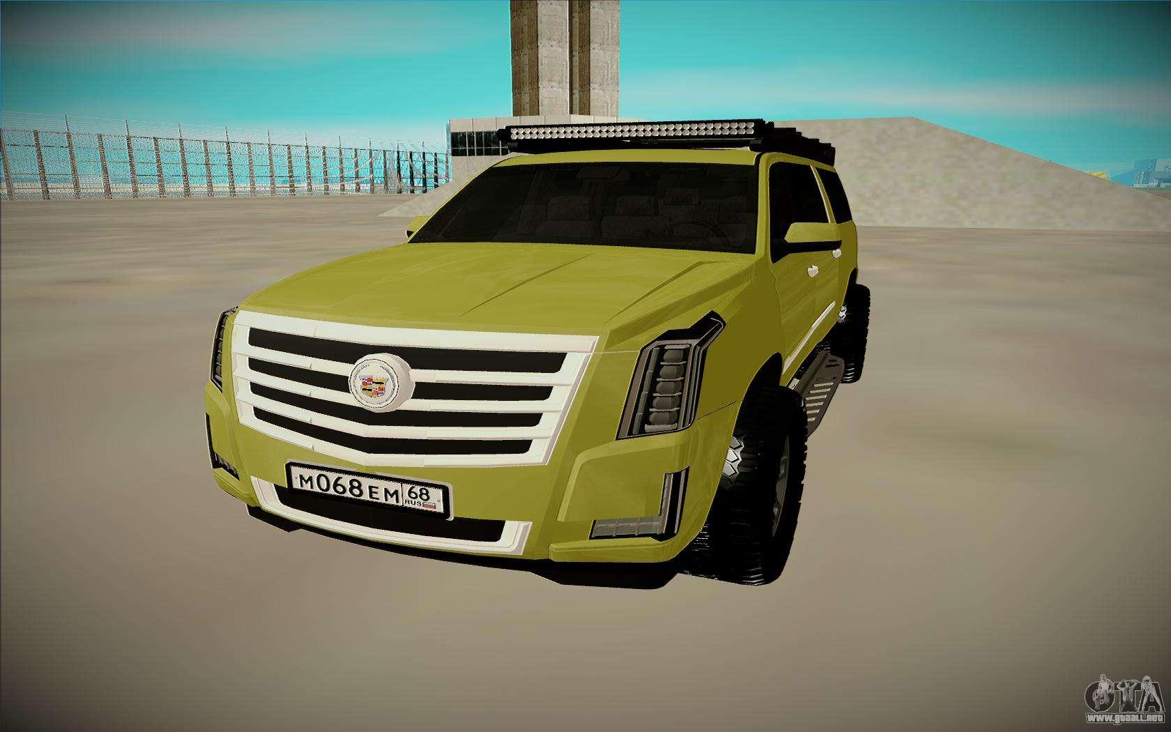 Cadillac escalade esv para gta san andreas vista posterior izquierda