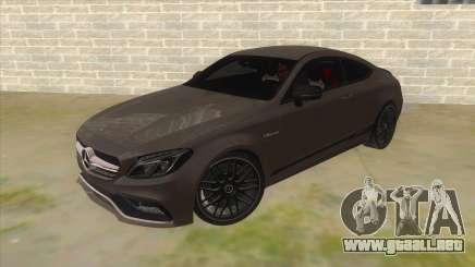 Mercedes-Benz C63S AMG Coupe 2017 para GTA San Andreas