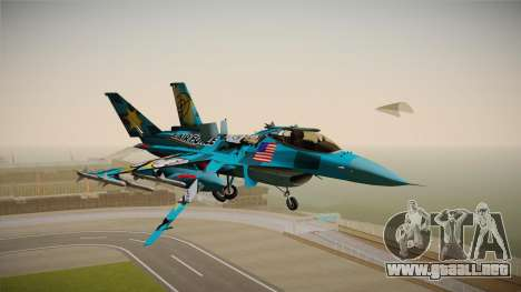 FNAF Air Force Hydra Mike para GTA San Andreas vista posterior izquierda