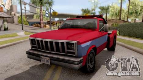 Paintable Towtruck v1 para GTA San Andreas