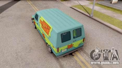 Ford Econoline 150 Scooby-Doo Mystery Machine para GTA San Andreas vista hacia atrás