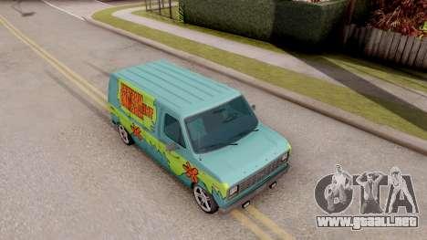 Ford Econoline 150 Scooby-Doo Mystery Machine para la visión correcta GTA San Andreas