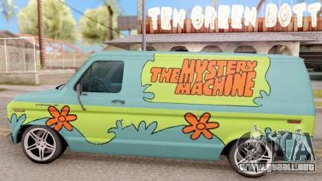 Ford Econoline 150 Scooby-Doo Mystery Machine para GTA San Andreas left