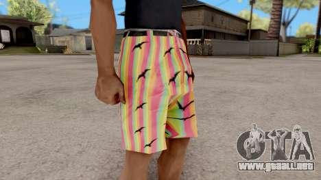 Pantalones cortos con las gaviotas para GTA San Andreas segunda pantalla