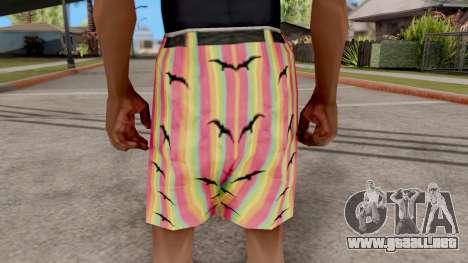 Pantalones cortos con las gaviotas para GTA San Andreas tercera pantalla