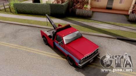 Paintable Towtruck v1 para la visión correcta GTA San Andreas