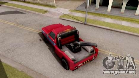 Paintable Towtruck v1 para GTA San Andreas vista hacia atrás