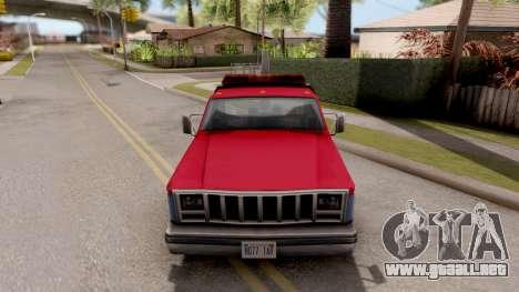 Paintable Towtruck v1 para visión interna GTA San Andreas