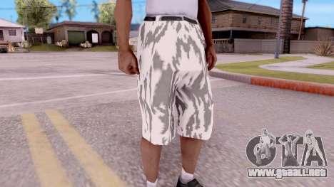 Pantalones de camuflaje para GTA San Andreas segunda pantalla