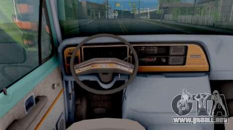Ford Econoline 150 Scooby-Doo Mystery Machine para visión interna GTA San Andreas