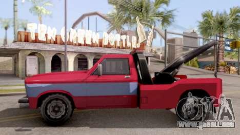 Paintable Towtruck v1 para GTA San Andreas left