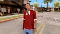 Adidas T-Shirt Red para GTA San Andreas