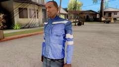 Chaqueta azul para GTA San Andreas