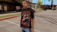 Black T-Shirt AC/DC para GTA San Andreas