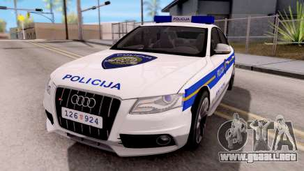 Audi S4 Croatian Police Car para GTA San Andreas