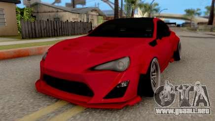 Toyota GT-86 Rocket Bunny красный para GTA San Andreas