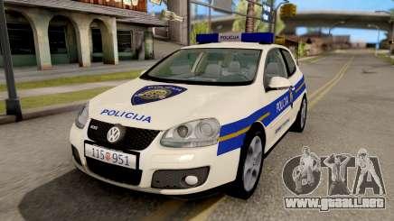 Volkswagen Golf V Croatian Police Car para GTA San Andreas