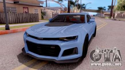 Chevrolet Camaro ZL1 2017 para GTA San Andreas