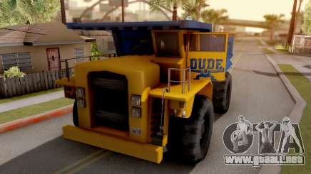 Paintable Dumper para GTA San Andreas