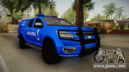 Chevrolet S10 Turkish Gendarmerie CSI Unit para GTA San Andreas
