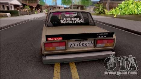 VAZ-2107 de Combate Clásico para GTA San Andreas
