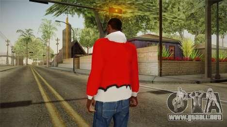Chaqueta roja, Santa Claus para GTA San Andreas segunda pantalla