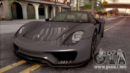 Porsche 918 Spyder 2013 para GTA San Andreas