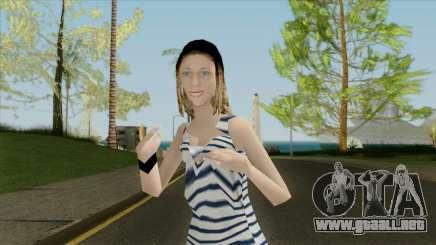 La chica del chaleco para GTA San Andreas