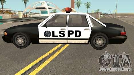 Echo Police SA Style para GTA San Andreas left