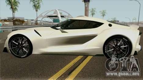 Toyota Supra FT-1 Concept 2014 para GTA San Andreas left