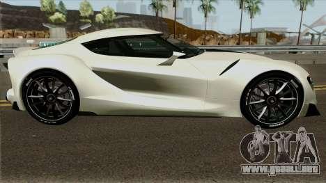 Toyota Supra FT-1 Concept 2014 para GTA San Andreas vista hacia atrás