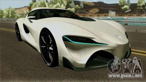 Toyota Supra FT-1 Concept 2014 para visión interna GTA San Andreas