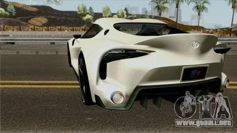 Toyota Supra FT-1 Concept 2014 para GTA San Andreas vista posterior izquierda