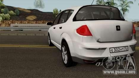 Seat Toledo 2006 1.9 Turbo-Diesel para GTA San Andreas vista posterior izquierda