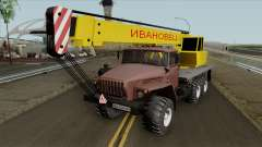 Ural 4320 Camión Grúa Ivanovets para GTA San Andreas